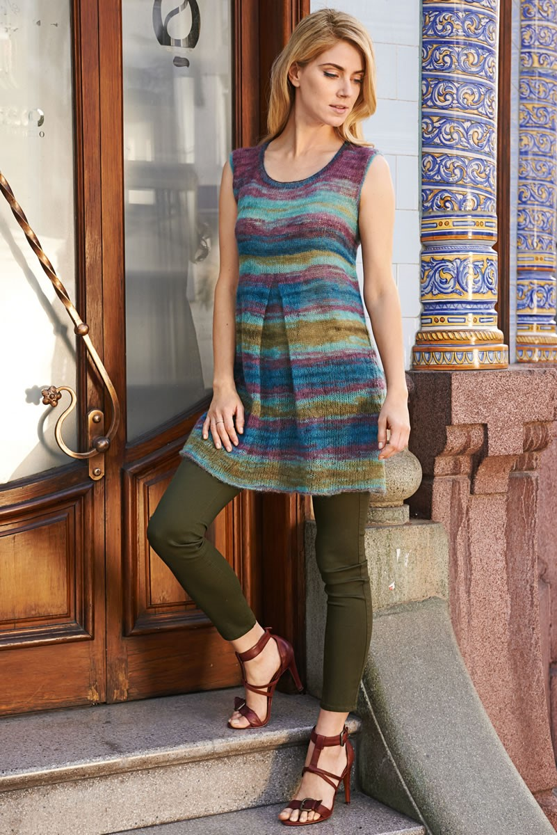 Lana Grossa PLEATED DRESS Silkhair Print