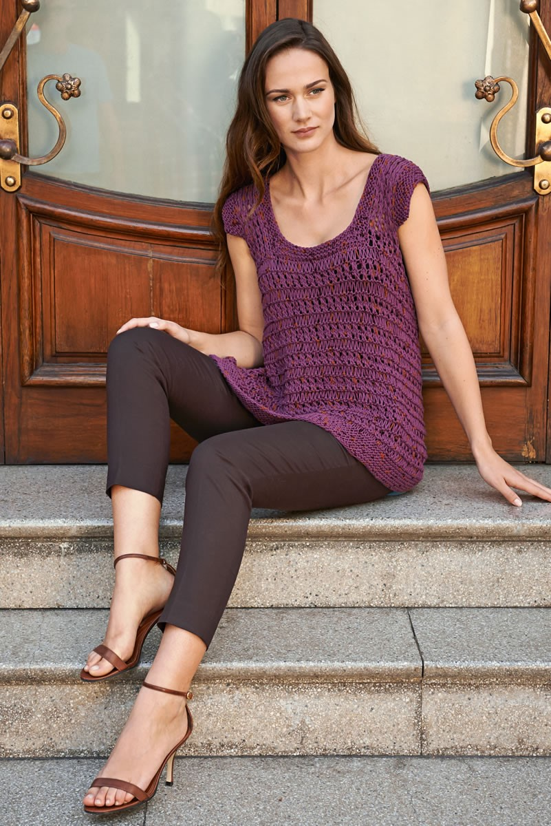 Lana Grossa TOP IN DROP STITCH PATTERN Lido