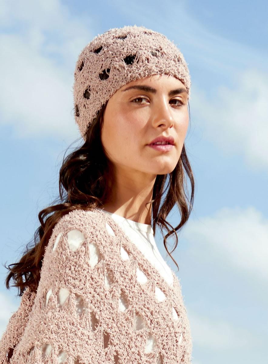 Lana Grossa HAT IN ELONGATED STITCH PATTERN Gallina/Secondo