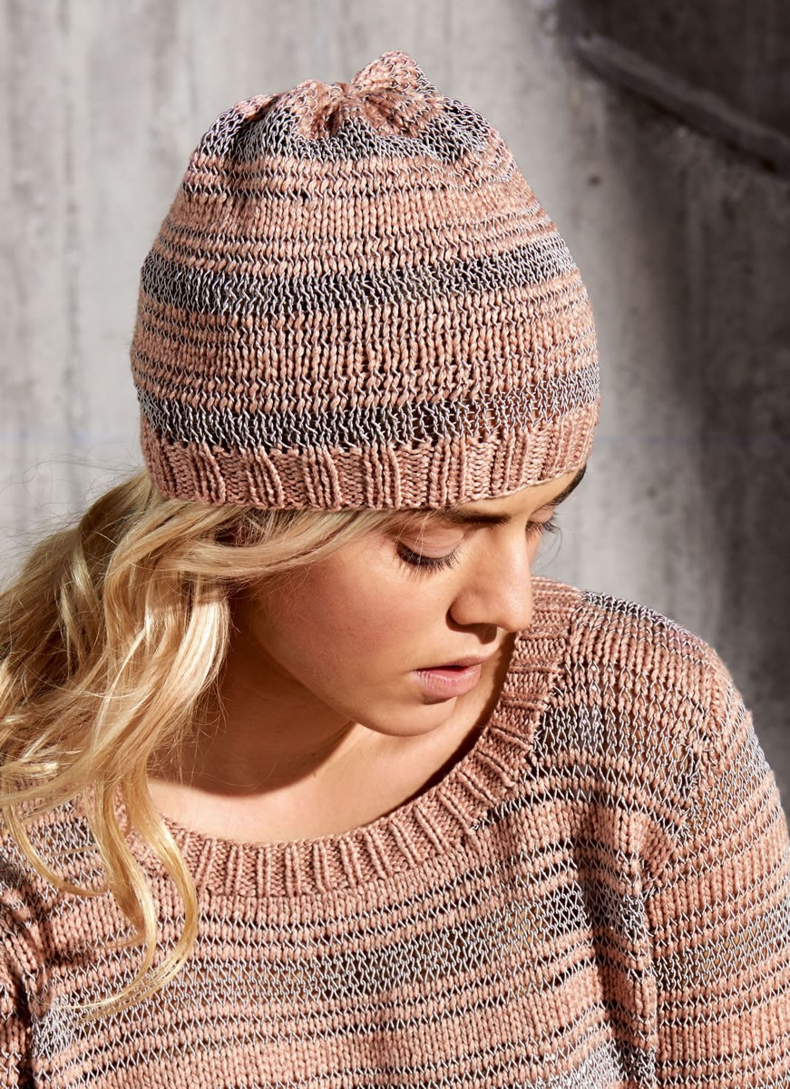 Lana Grossa STRIPED HAT 365 Yak/Secondo
