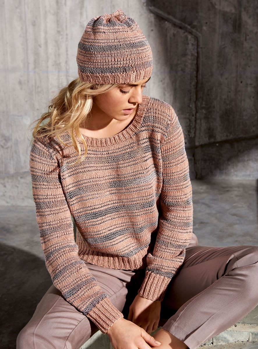 Lana Grossa STRIPED PULLOVER 365 Yak/Secondo