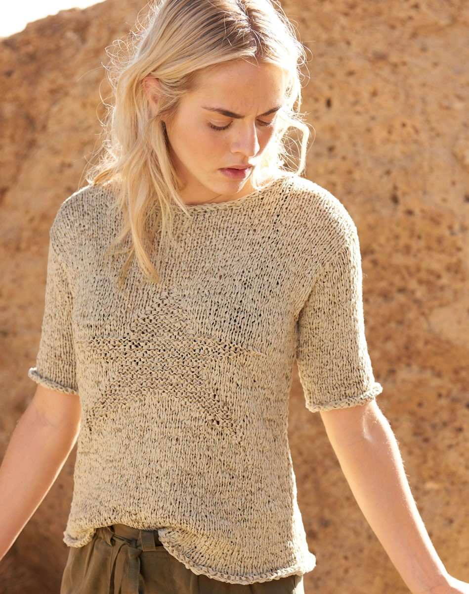 Lana Grossa PULLOVER WITH STAR MOTIFS Lunare