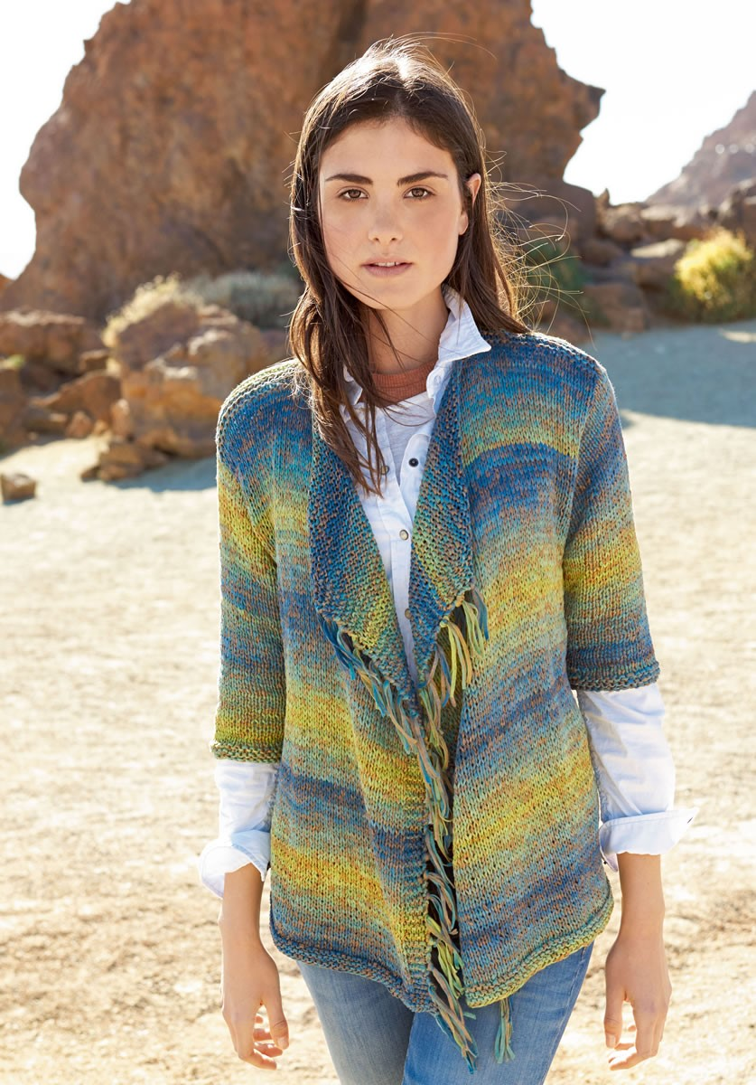 Lana Grossa CASUAL JACKET IN STOCKINETTE Roma Degradè