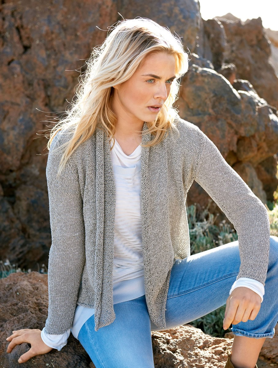 Lana Grossa SHAWL COLLAR JACKET IN STOCKINETTE Divino