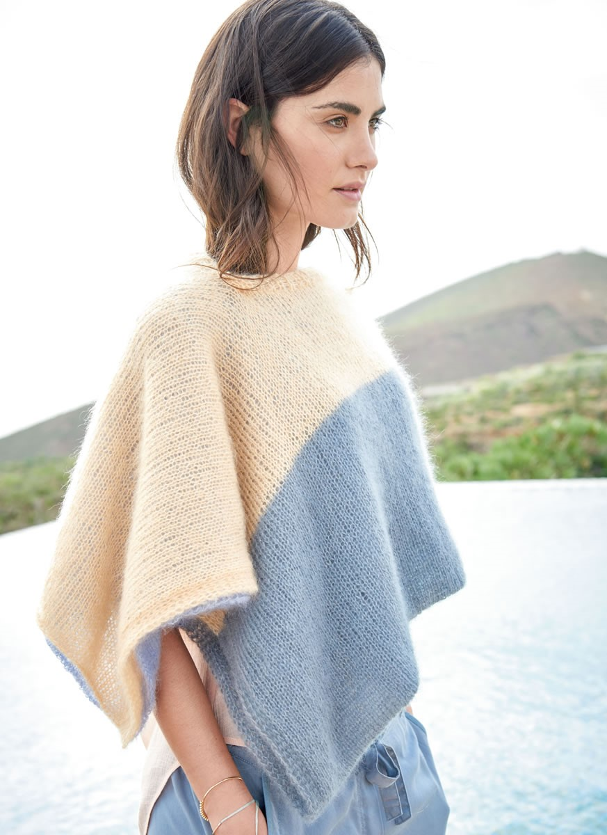 Lana Grossa COLORBLOCK CAPE Silkhair