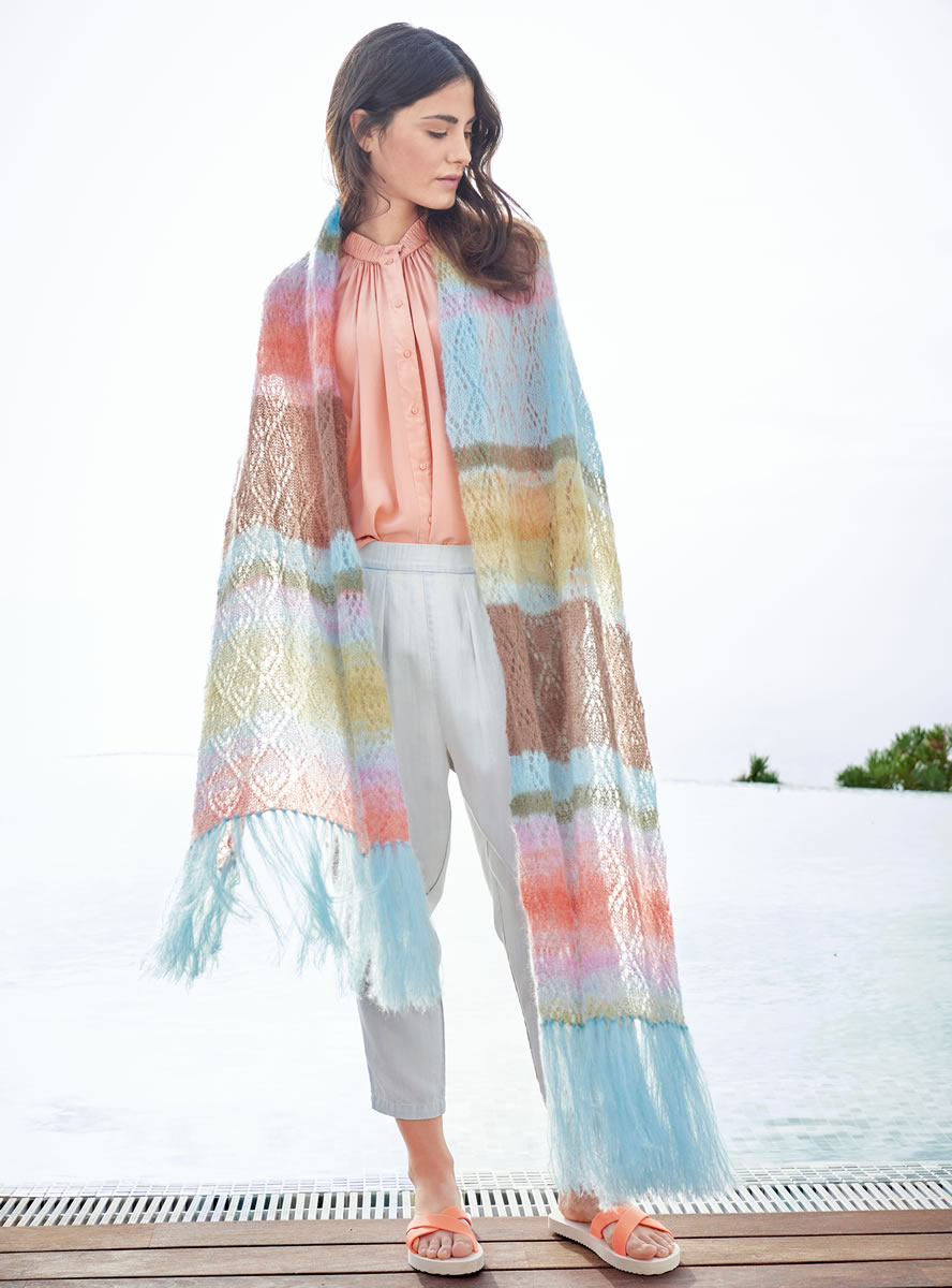Lana Grossa WRAP IN LACE PATTERN Silkhair/Silkhair Print   FILATI No ...