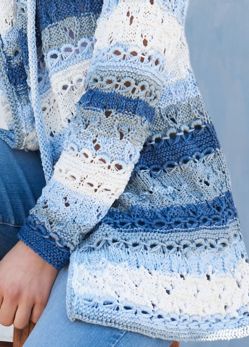 Openwork Lace Knitting Pattern : Lana Grossa JACKET IN DROP STITCH OPENWORK AND LACE ...