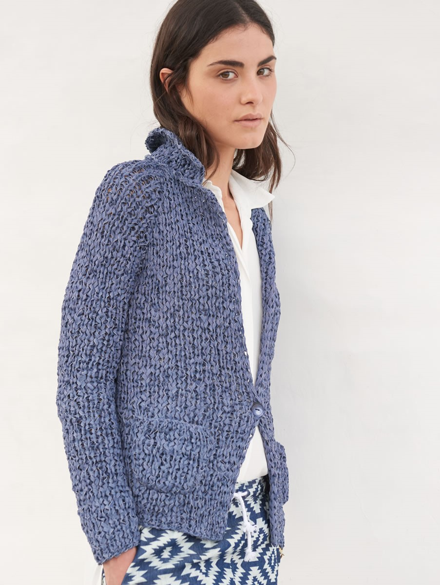 Lana Grossa RAGLAN JACKET IN RIB PATTERN Lunare