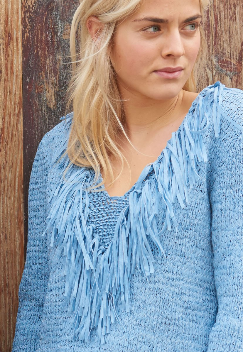 Lana Grossa PULLOVER IN STOCKINETTE AND REVERSE STOCKINETTE Lunare