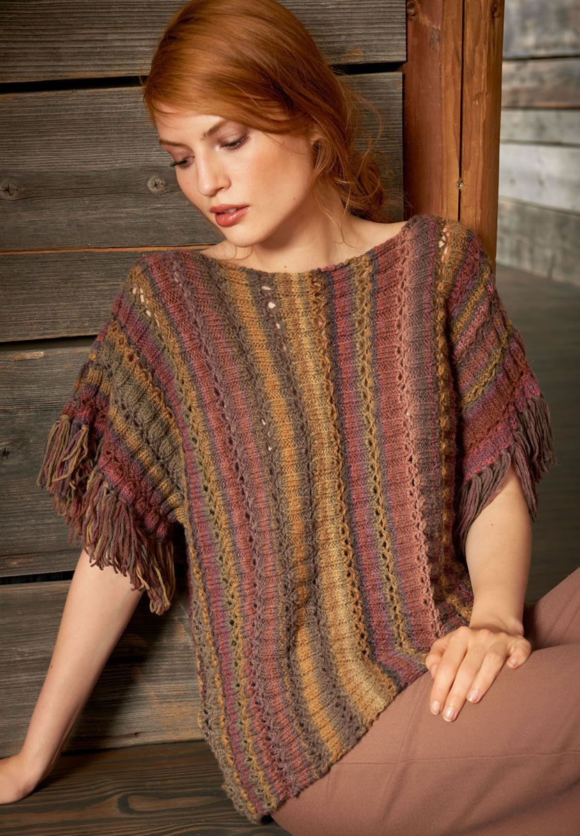 Lana Grossa PONCHO PULLOVER Tinto