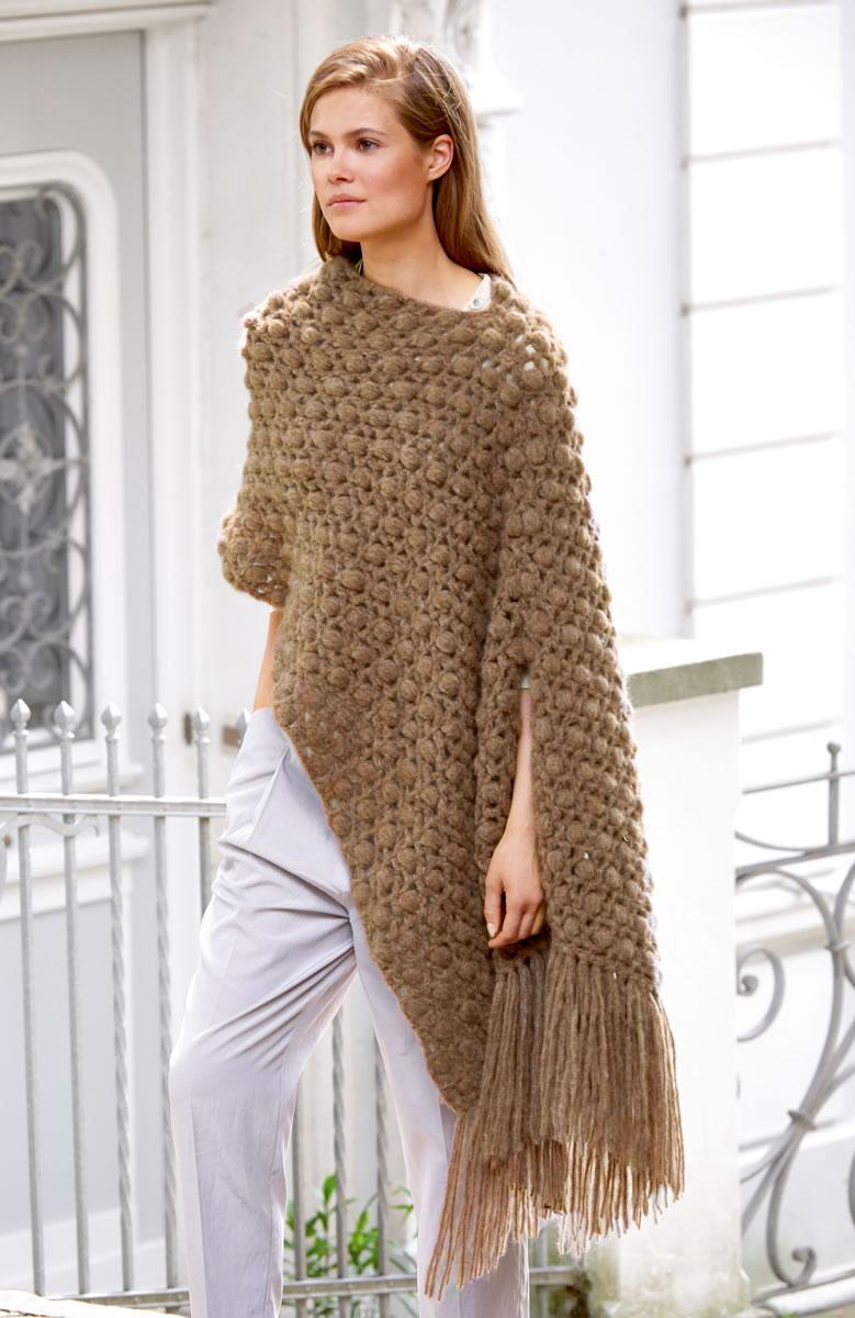 lana grossa poncho cloud filati no 52 herbst winter 2016 17 design 65 filati knitting. Black Bedroom Furniture Sets. Home Design Ideas