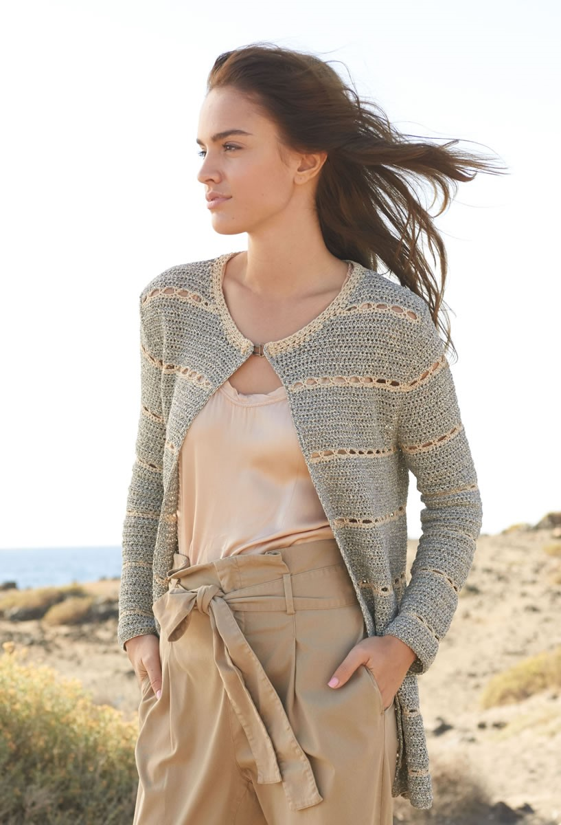Lana Grossa CROCHETED LONGLINE JACKET Nizza