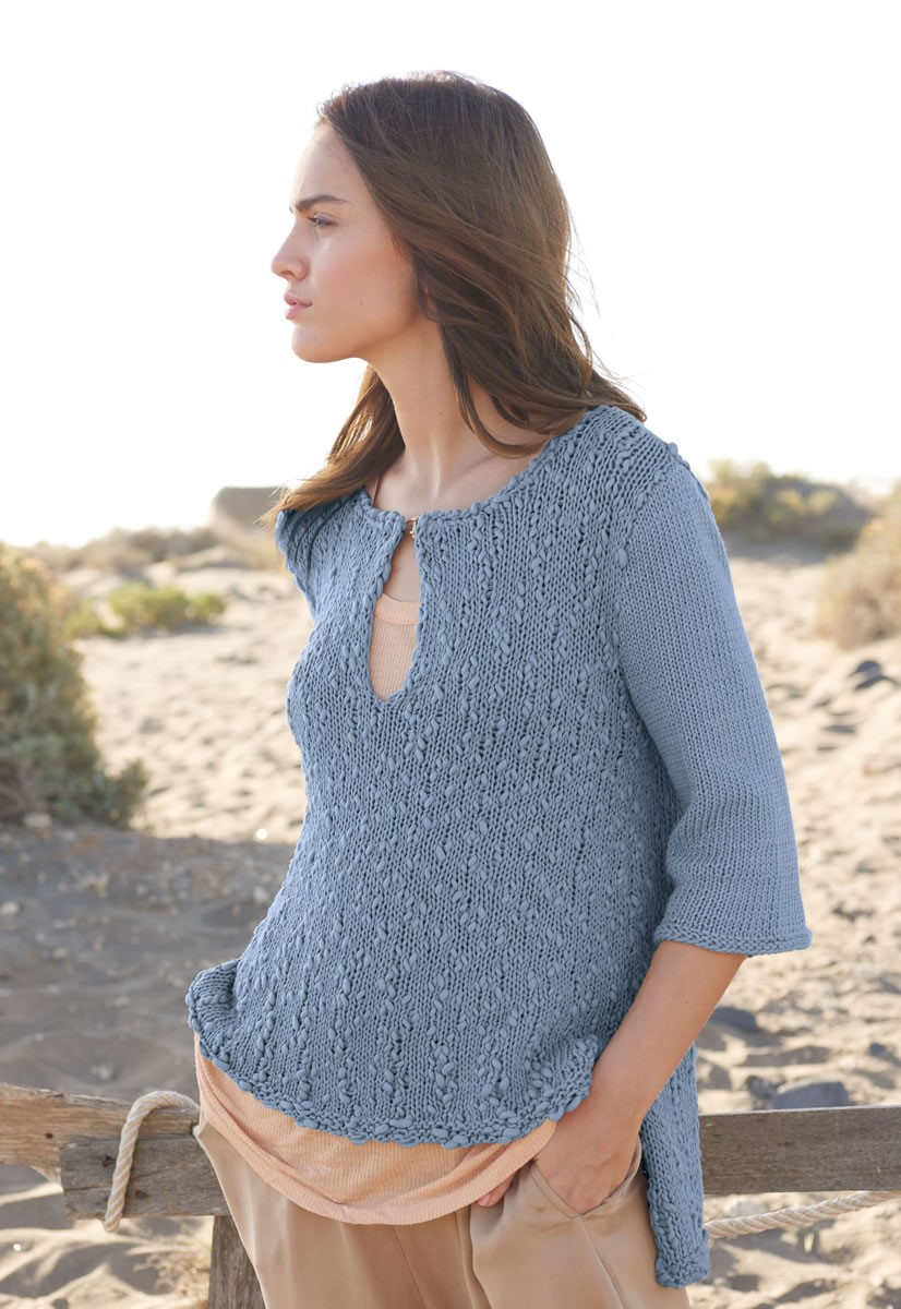 Lana Grossa HI-LO PULLOVER Only Cotton/Cotton Style