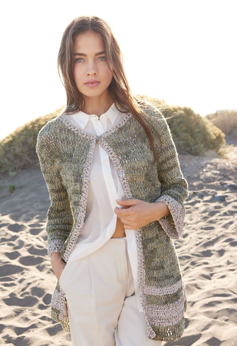 Lana Grossa CROCHETED JACKET Coco/Alcanto