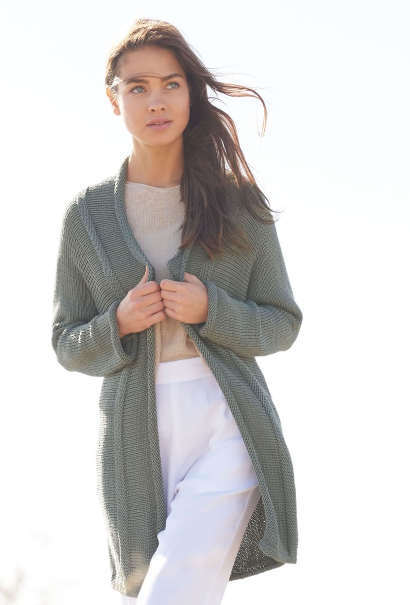 Lana Grossa SIDE-TO-SIDE JACKET WITH SHAWL COLLAR Seta