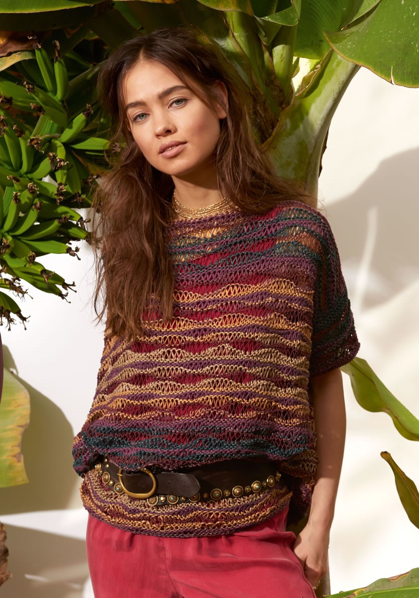 Lana Grossa PULLOVER IN ELONGATED STITCH PATTERN 365 Yak/Di Moda/Secondo