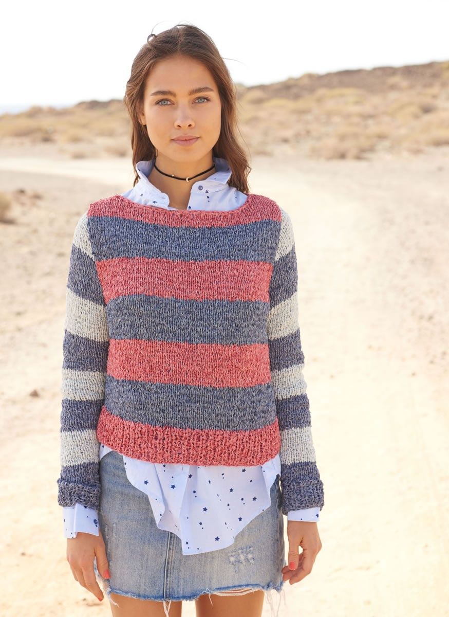 Lana Grossa STRIPED PULLOVER Lunare
