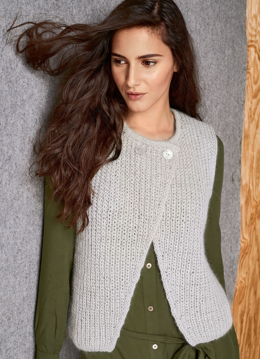 Lana Grossa VEST Lace Seta/Silkhair Paillettes | LACE No. 6 - Design ...
