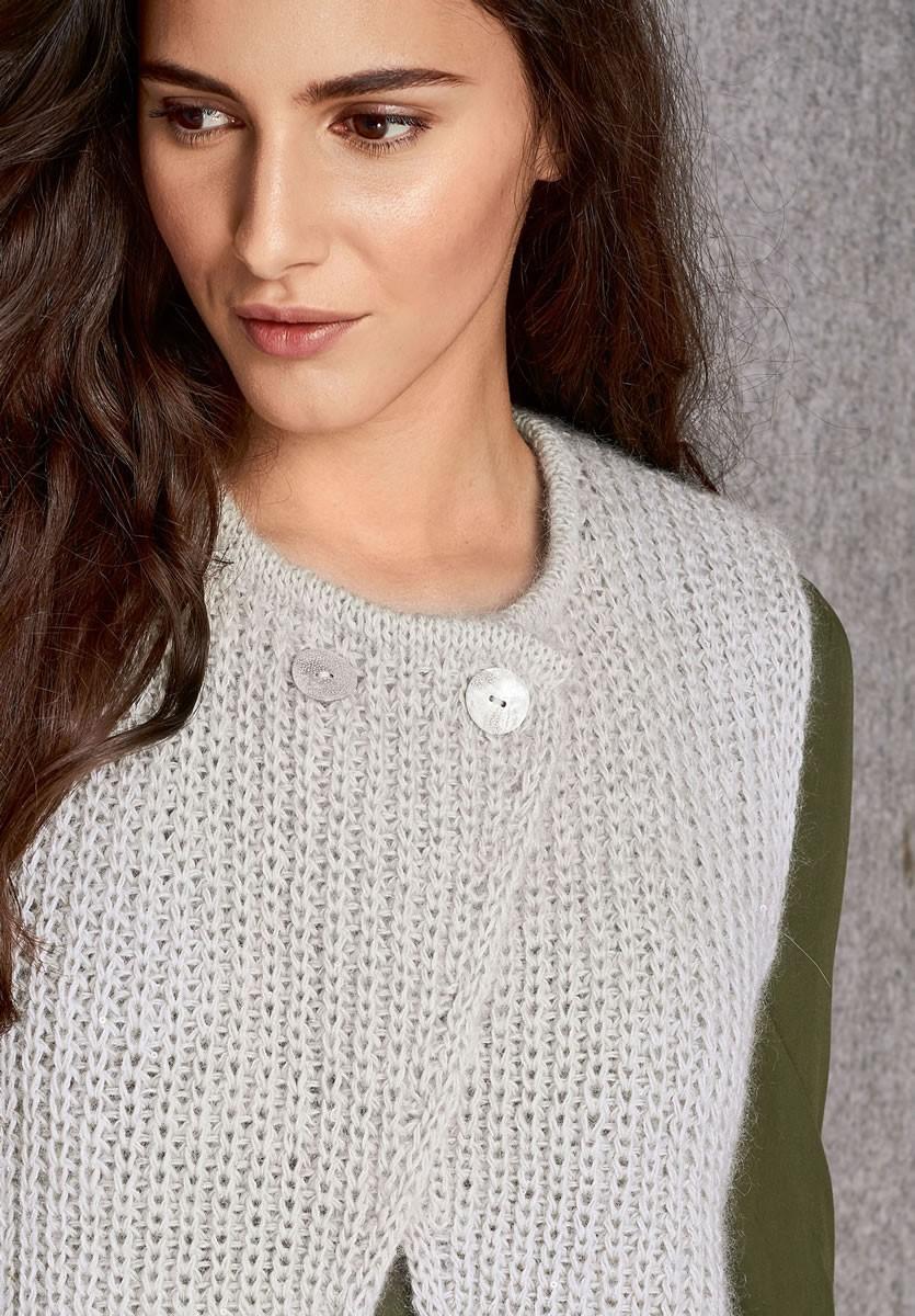 Lana Grossa VEST Lace Seta/Silkhair Paillettes