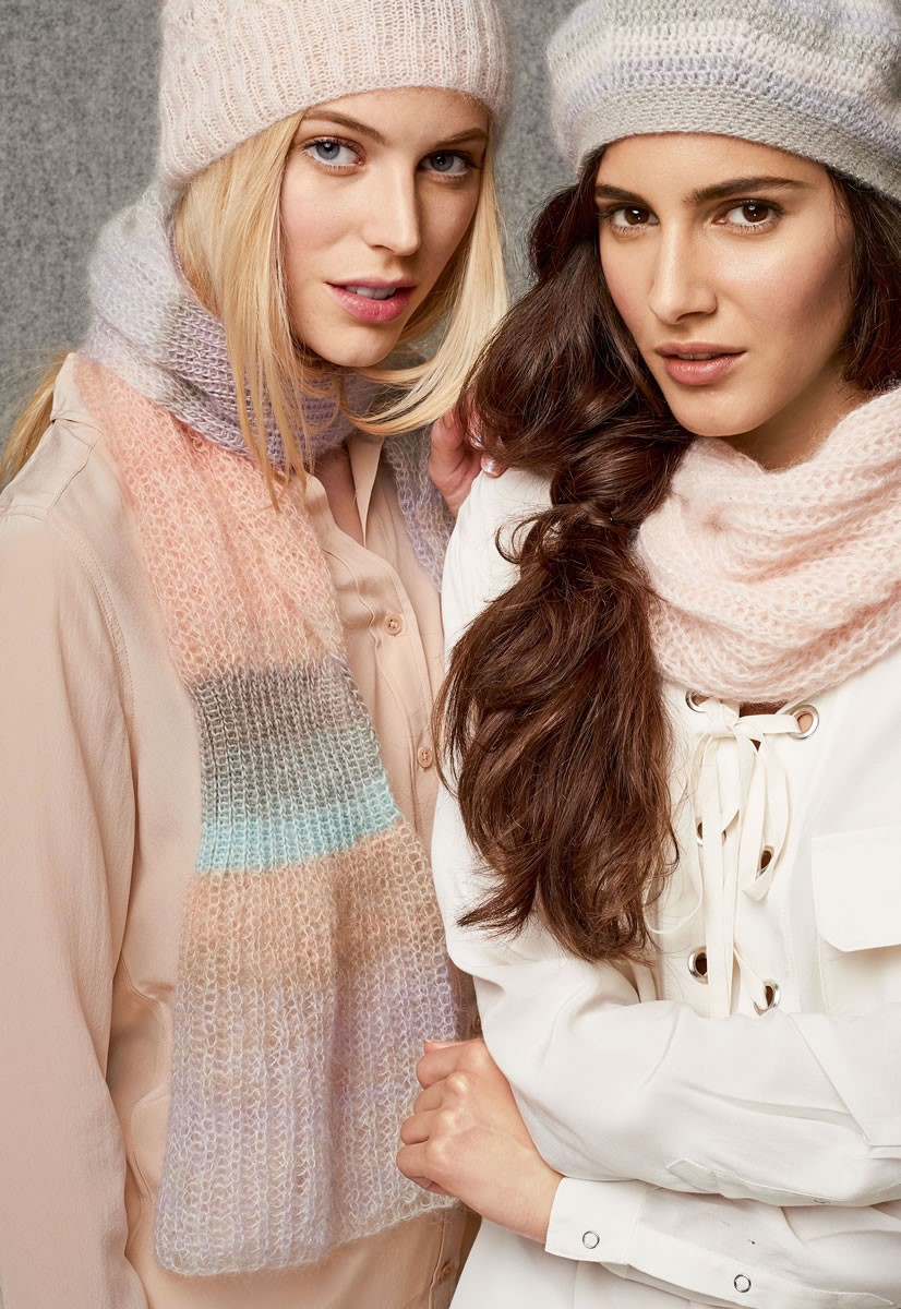 Lana Grossa SCARF Silkhair Print/Lace Seta Degradè