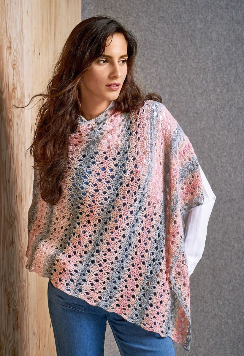 Lana Grossa PONCHO Lace Seta Degradè