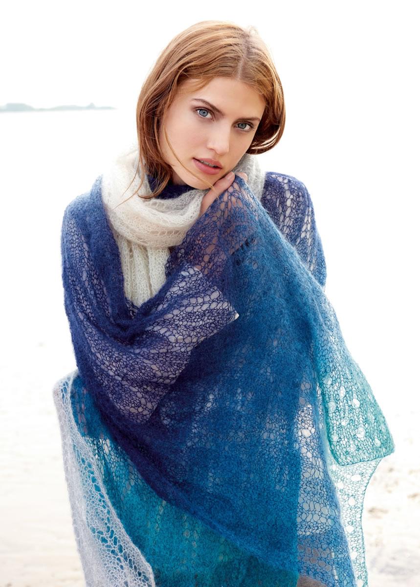 lana grossa scarf silkhair degrad lace no 6 design 37 filati knitting pattern model. Black Bedroom Furniture Sets. Home Design Ideas