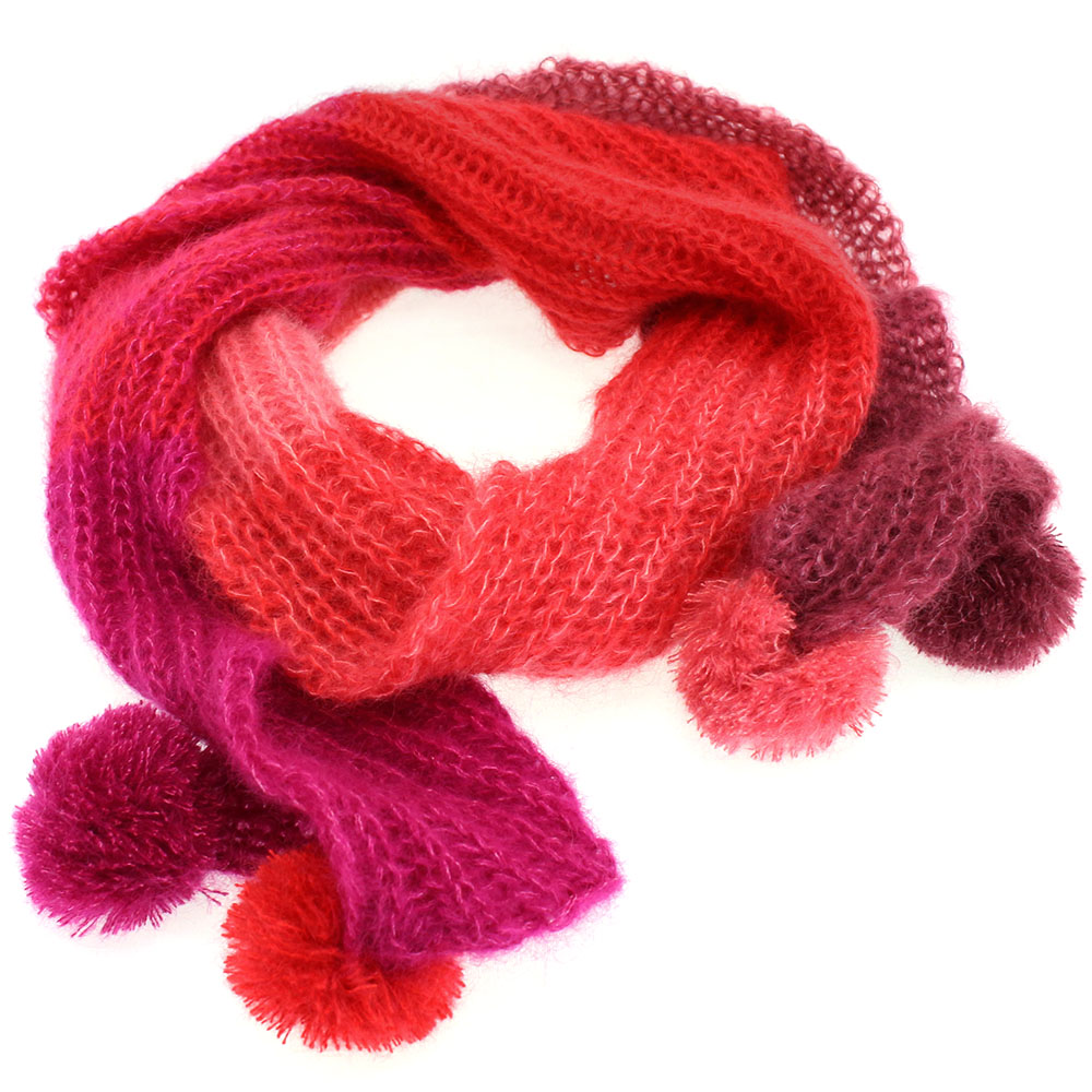 Knitting Scarves Patterns For Charity : CHARITY SCARF - finished knitted Accessories UNION KNOPF, Lana Grossa F...
