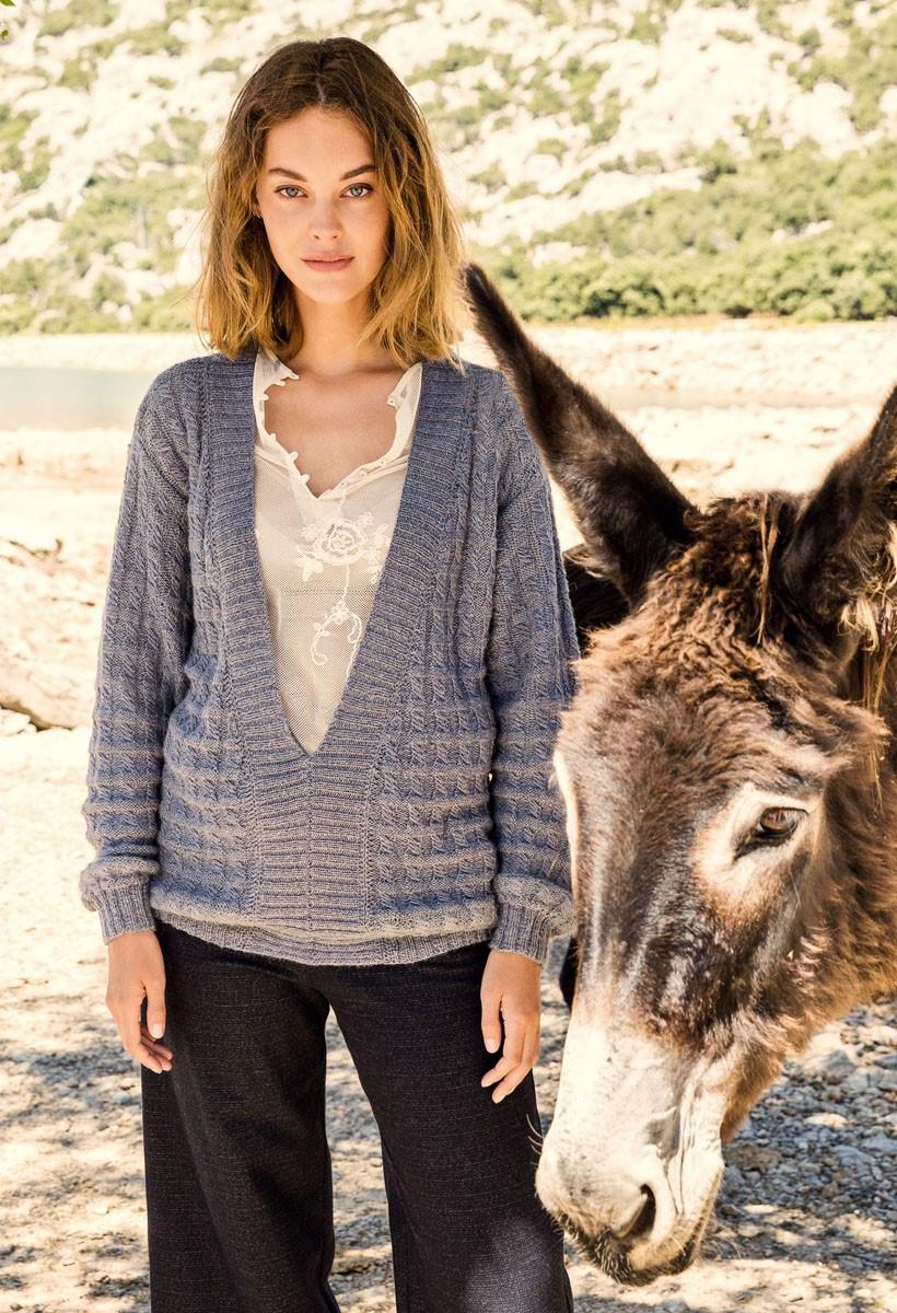 Lana Grossa PULLOVER Alpaca Peru 200/Silkhair