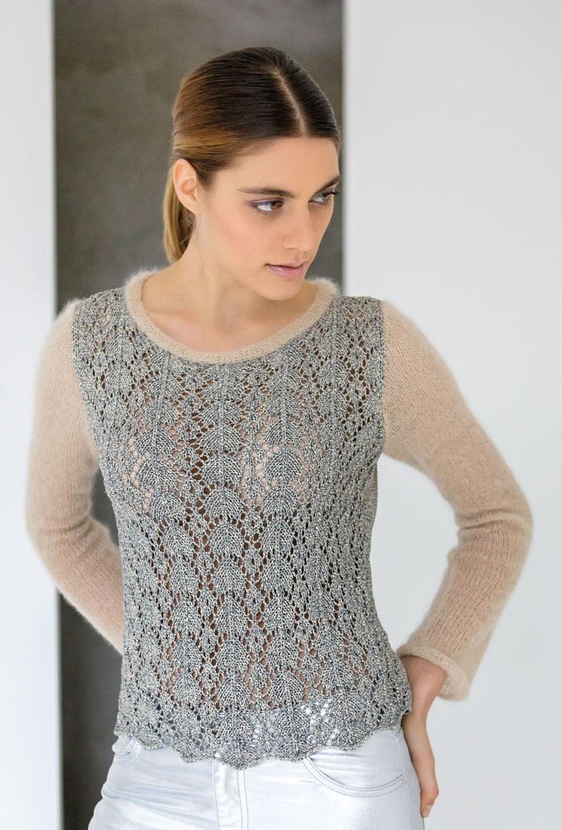 Lana Grossa PULLOVER Nizza/Silkhair