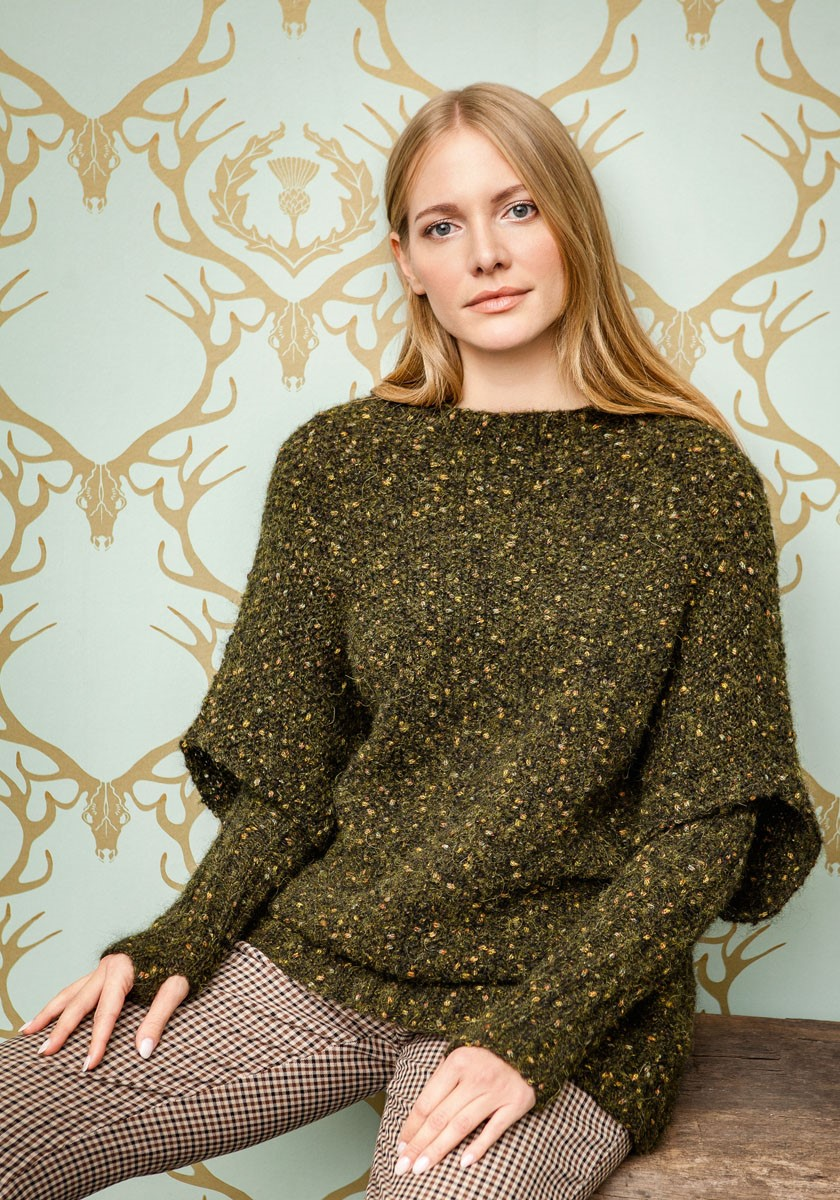 Lana Grossa PULLOVER WITH ARM WARMERS Lala Berlin Fluffy