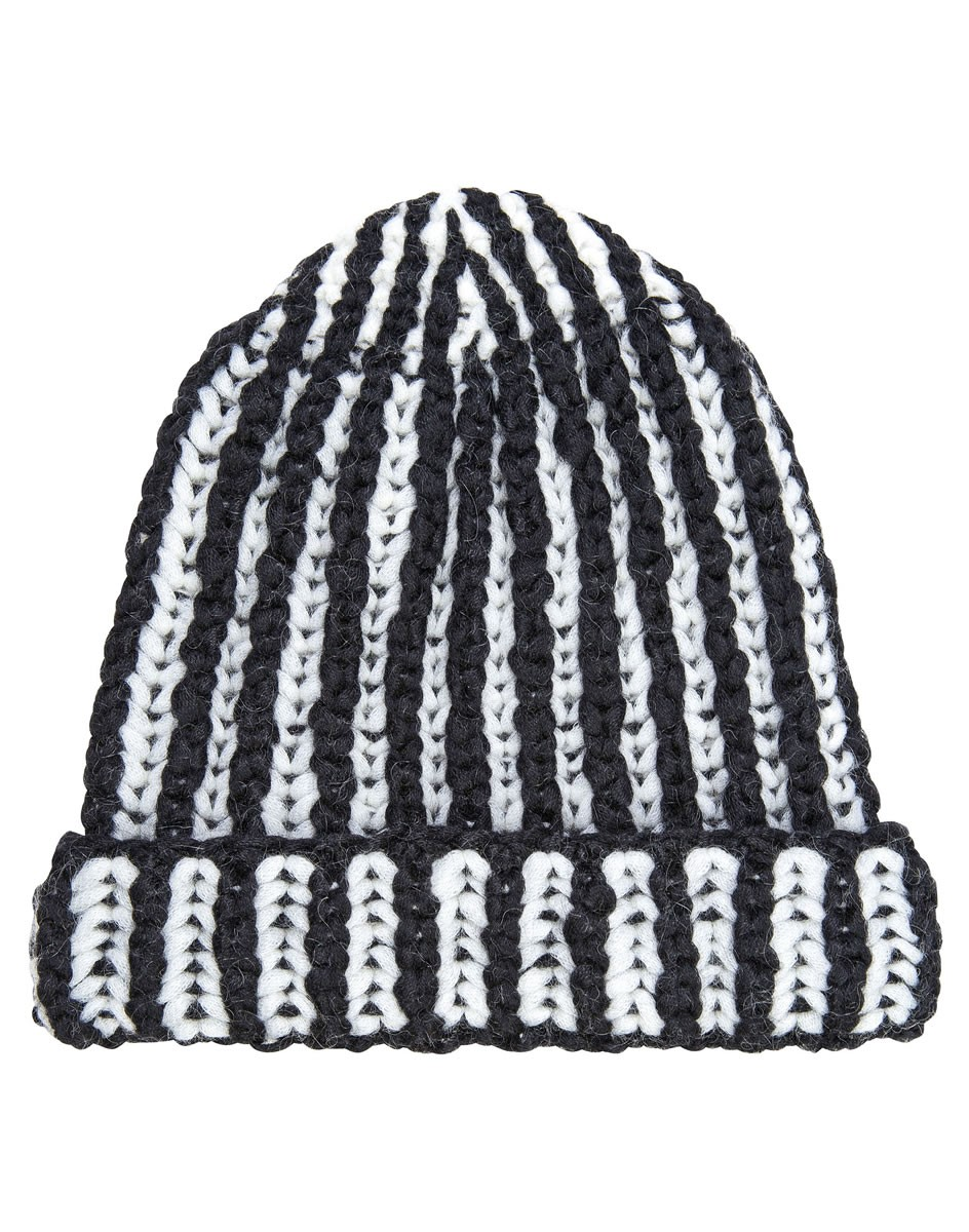 Lana Grossa HAT IN 2-COLOR SHAKER RIB Lala Berlin Softness