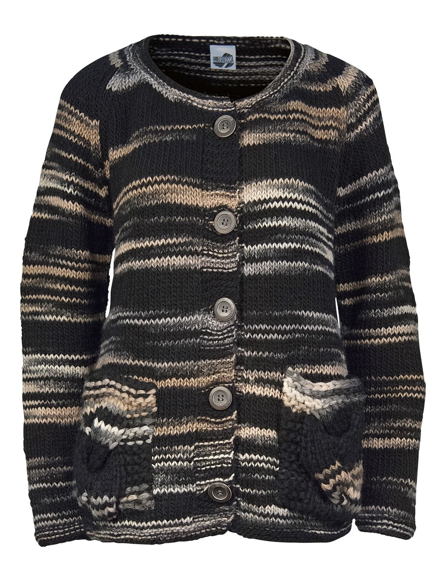 Lana Grossa REVERSE STOCKINETTE JACKET Amici Uno/Amici Due