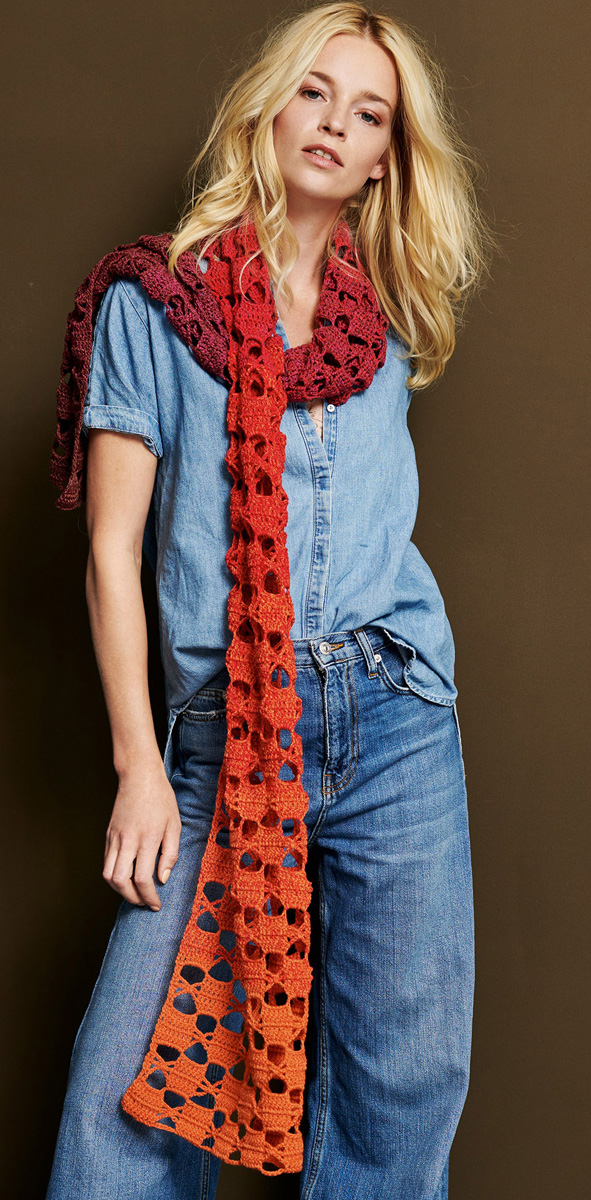 Lana Grossa Crocheted Scarf Shades Of Merino Cotton Shades Of Merino Cotton Flyer 3 Magazine De Knitting Instructions En Design 5 Filati Knitting Pattern Model Packages