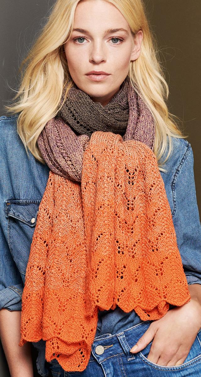 Lana Grossa Wide Lace Scarf Shades Of Merino Cotton Shades Of Merino Cotton Flyer 3 Magazine De Knitting Instructions En Design 10 Filati Knitting Pattern Model Packages