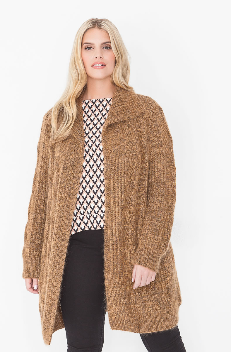 Lana grossa cardigan cool wool melange silkhair filati size plus magazine de knitting - Lana grossa diva ...