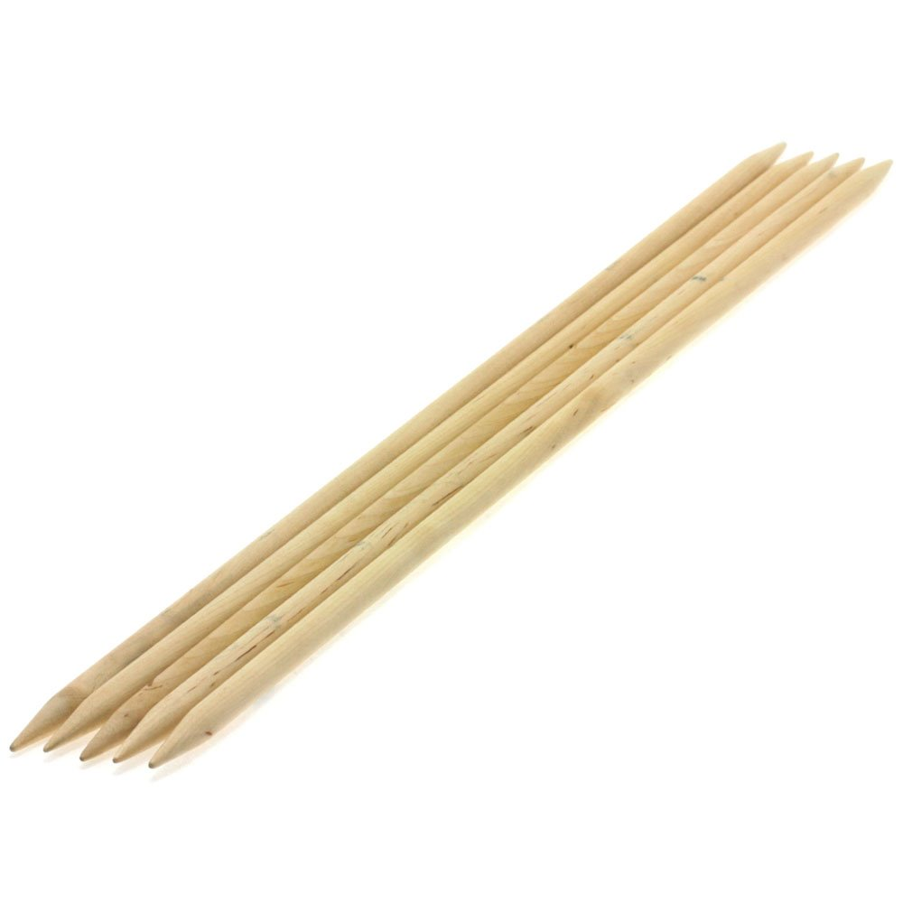 Lana Grossa Sock needles natural wood Big & Easy size 8/40cm