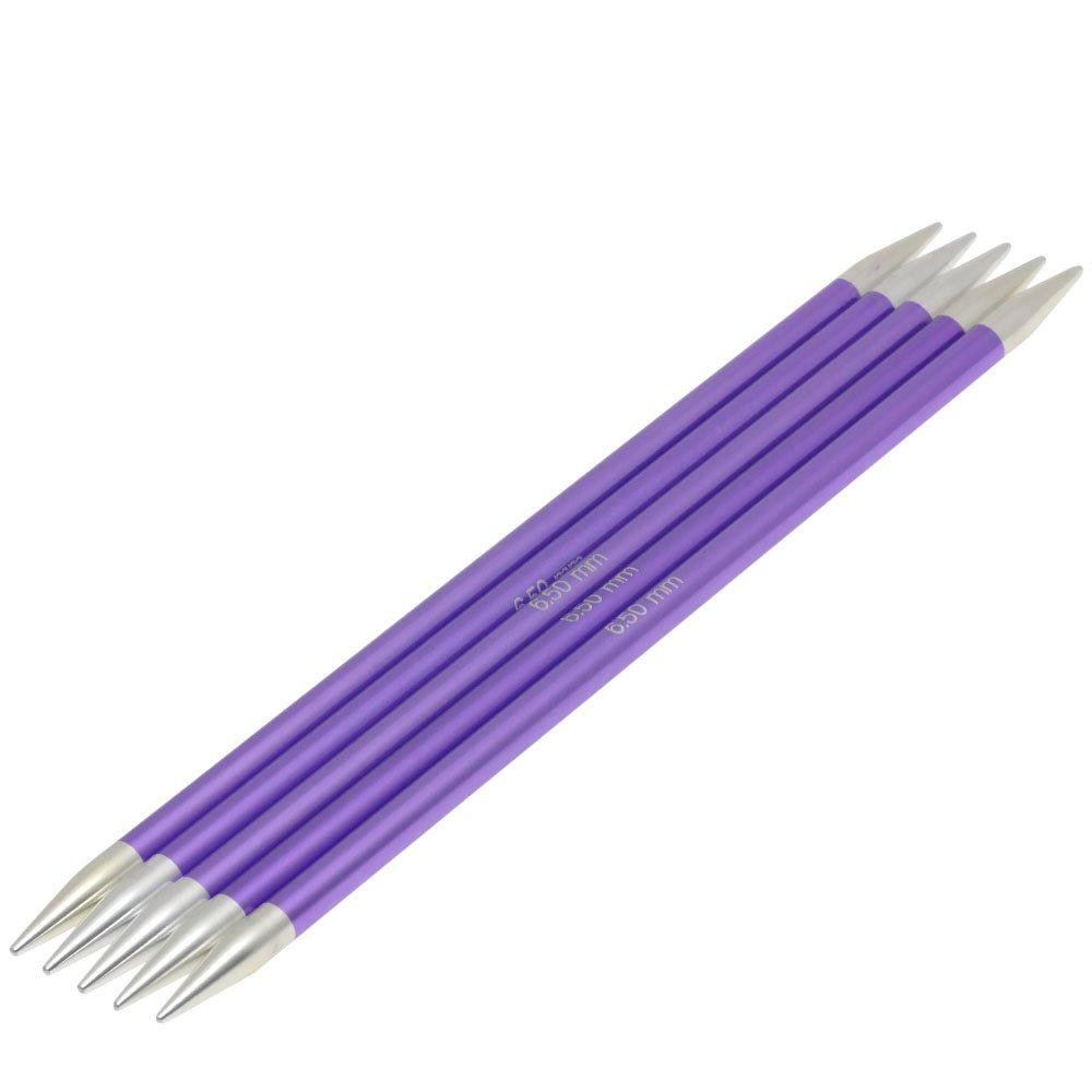 Lana Grossa Sock needles aluminum Rainbow size 6,5/20cm