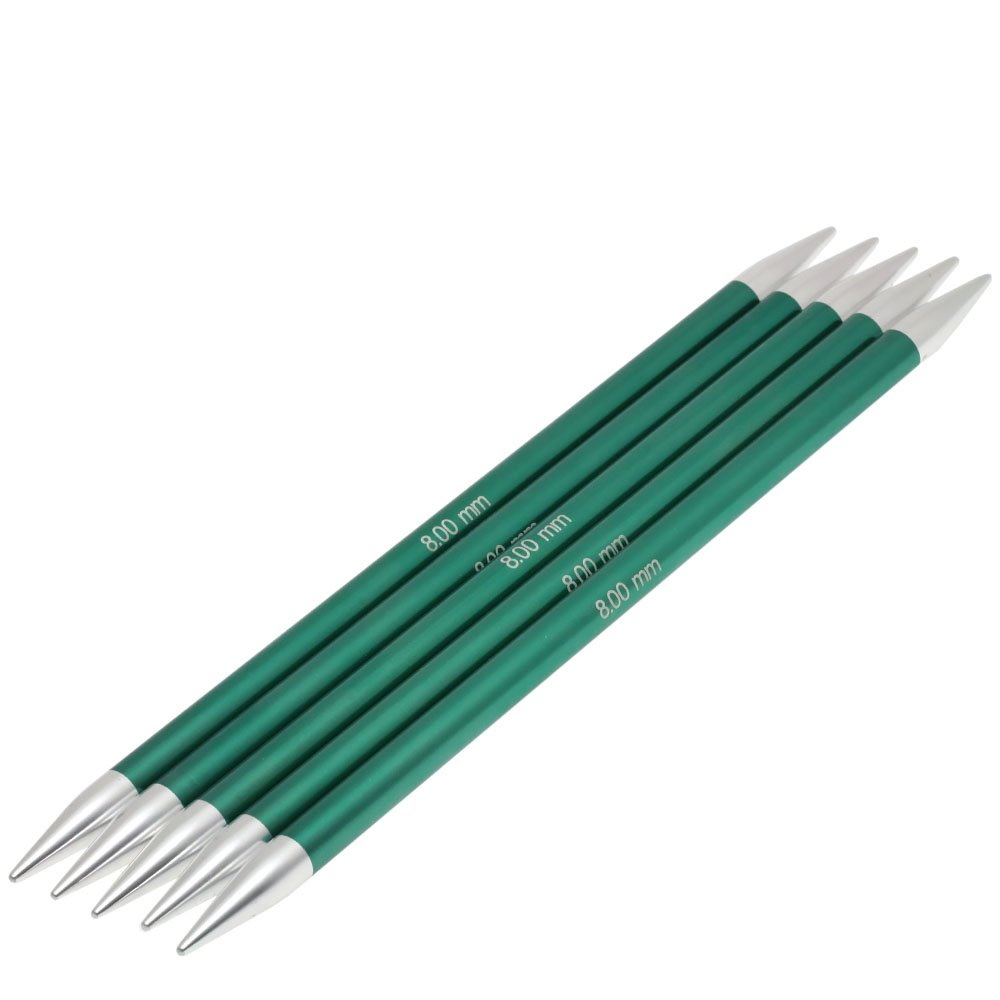 Lana Grossa Sock needles aluminum Rainbow size 8,0/20cm