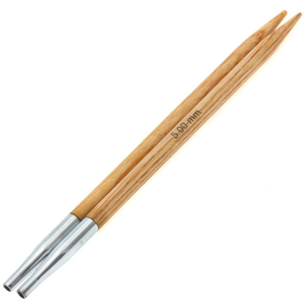Lana Grossa Needle tips Vario design-wood natural size 5,0
