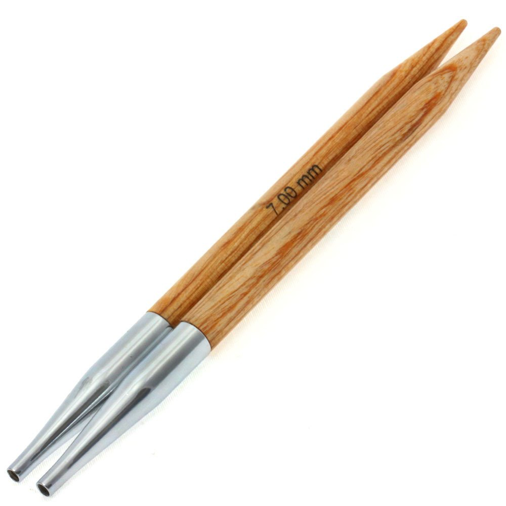 Lana Grossa Needle tips Vario design-wood natural size 7,0