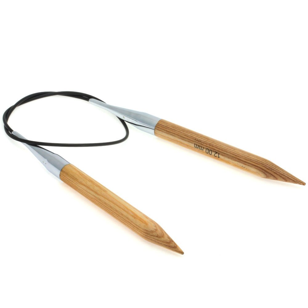 Lana Grossa Circular knitting needle design-wood natural size12,0/ 60cm
