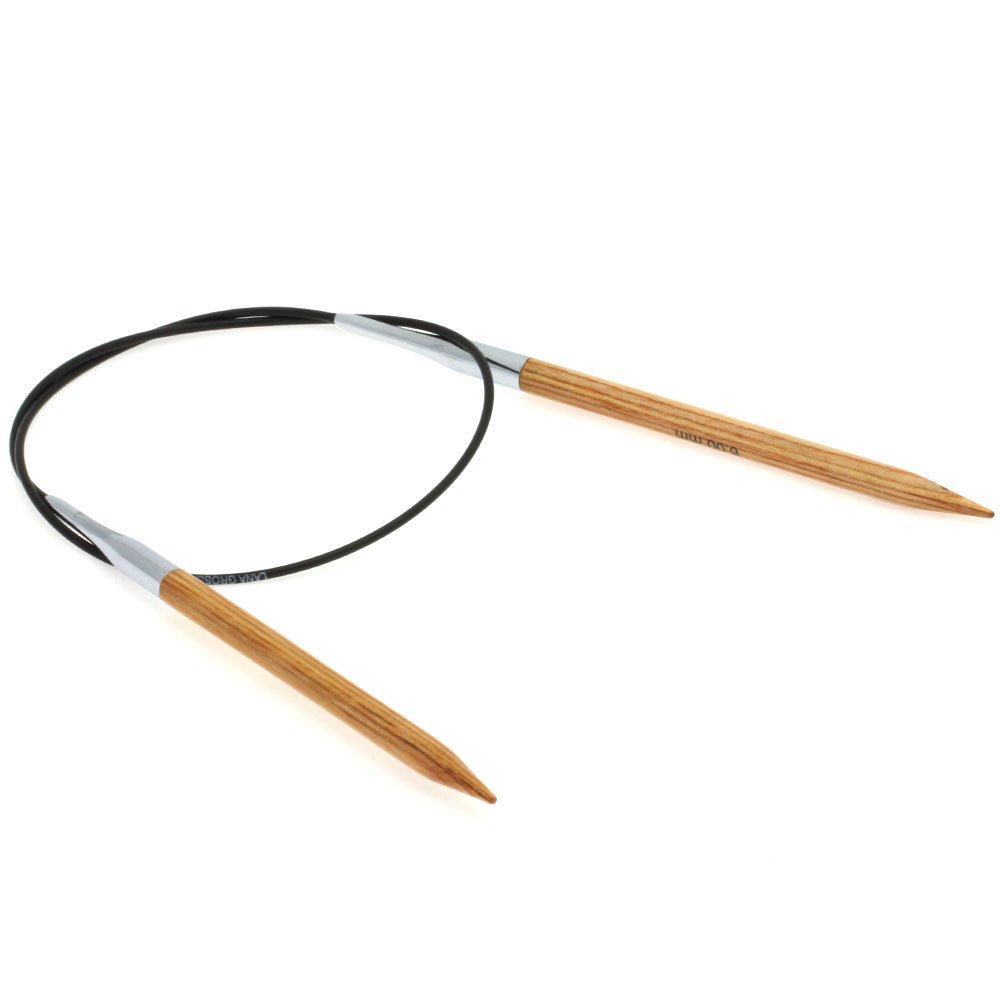 Lana Grossa Circular knitting needle design-wood natural size 6,0/ 60cm