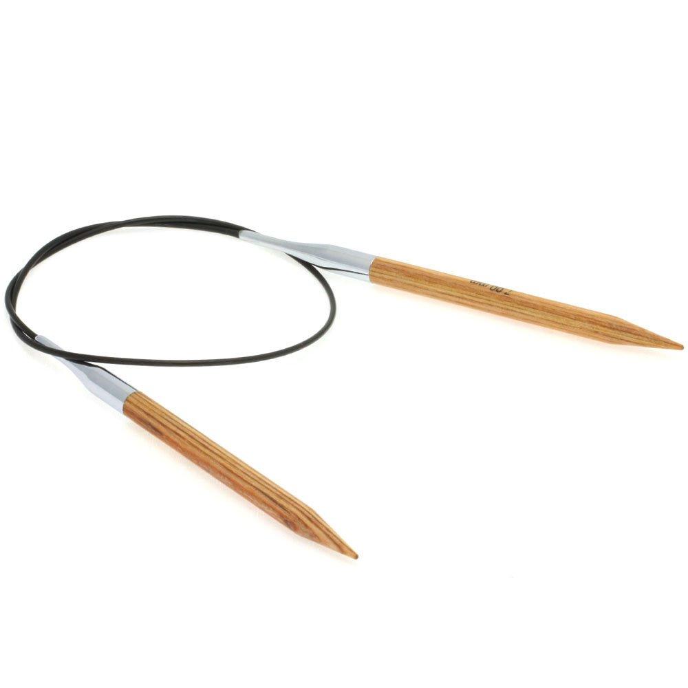 Lana Grossa Circular knitting needle design-wood natural size 7,0/ 60cm
