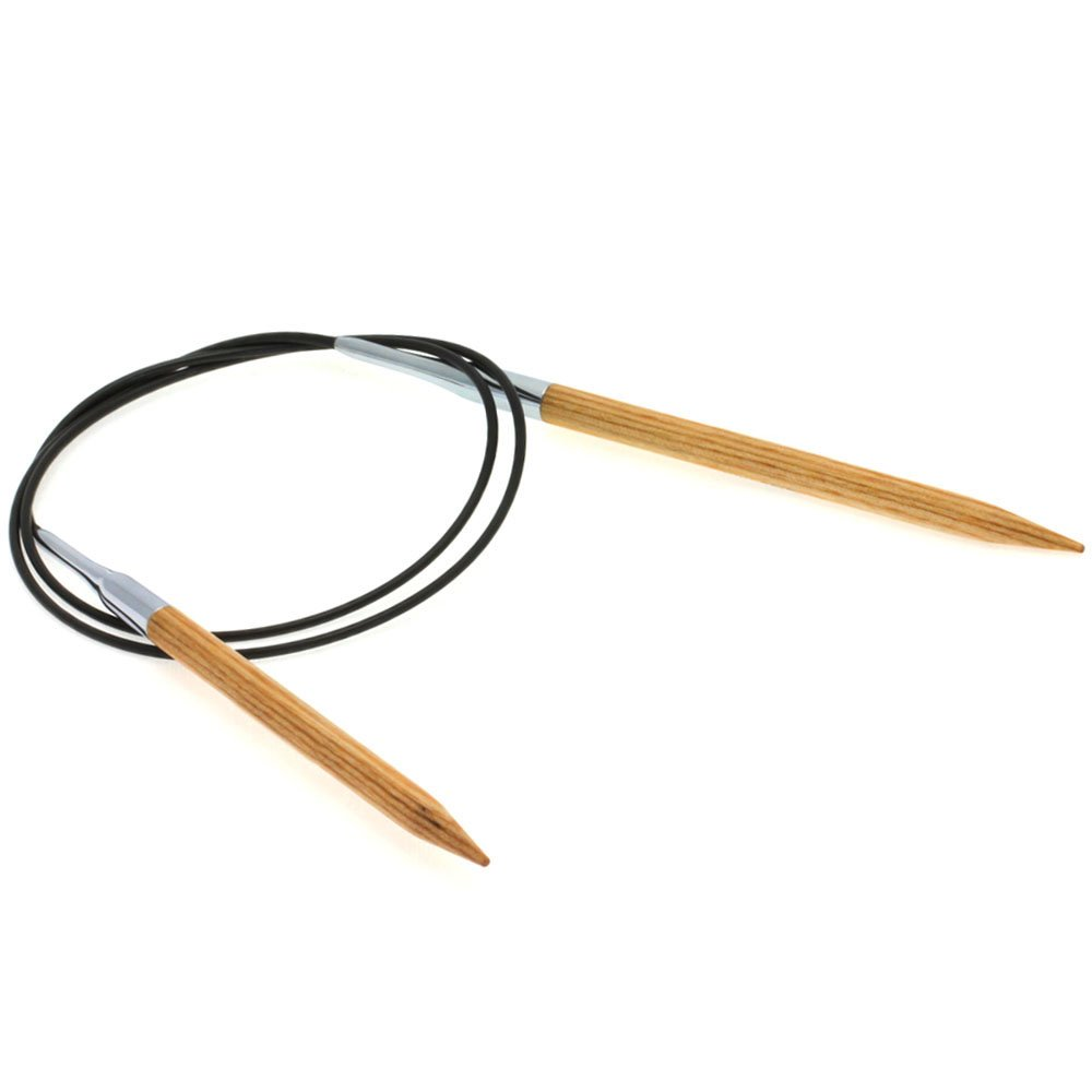 Lana Grossa Circular knitting needle design-wood natural size 6,0/ 80cm