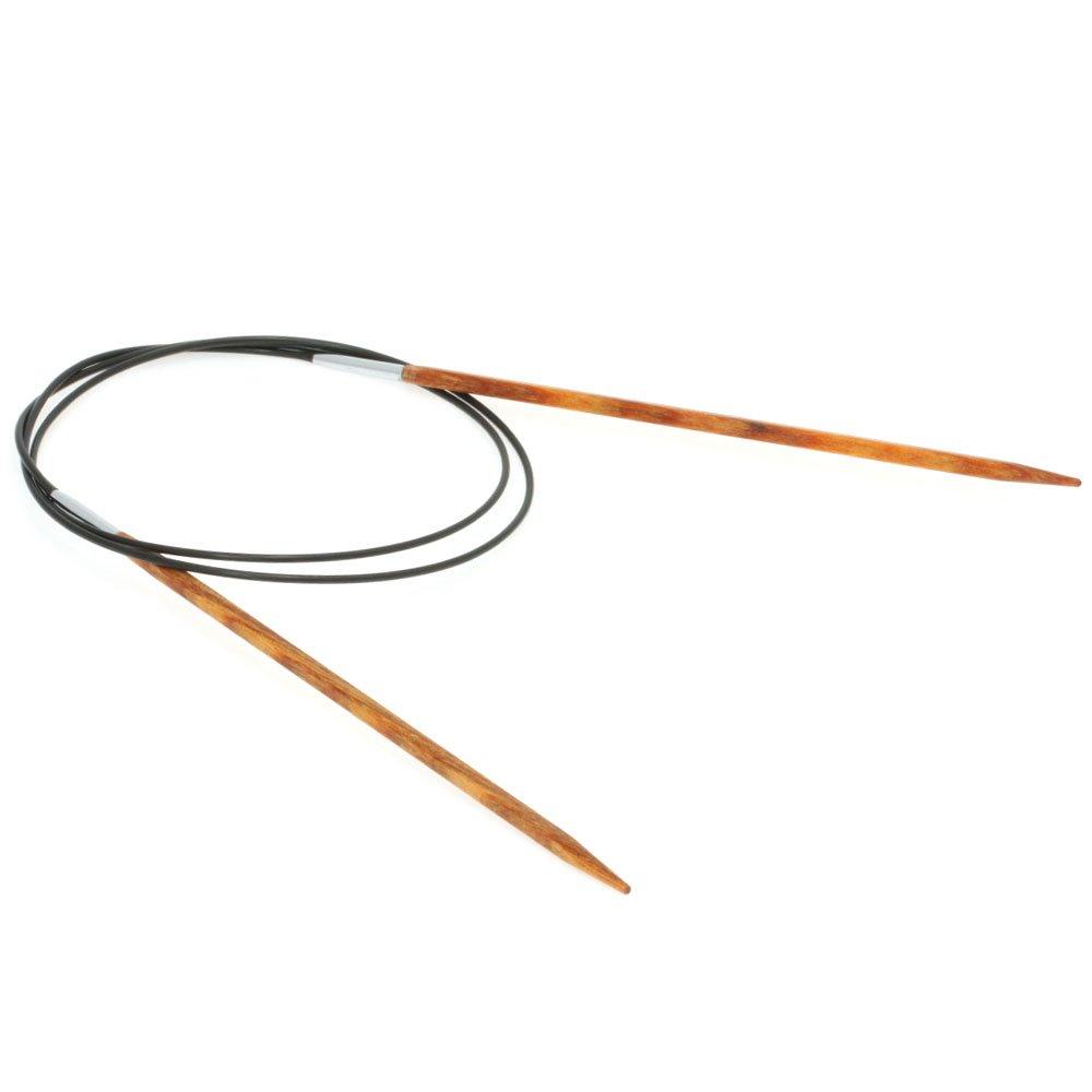 Lana Grossa Circular knitting needle design-wood quattro S. 3,5/80cm