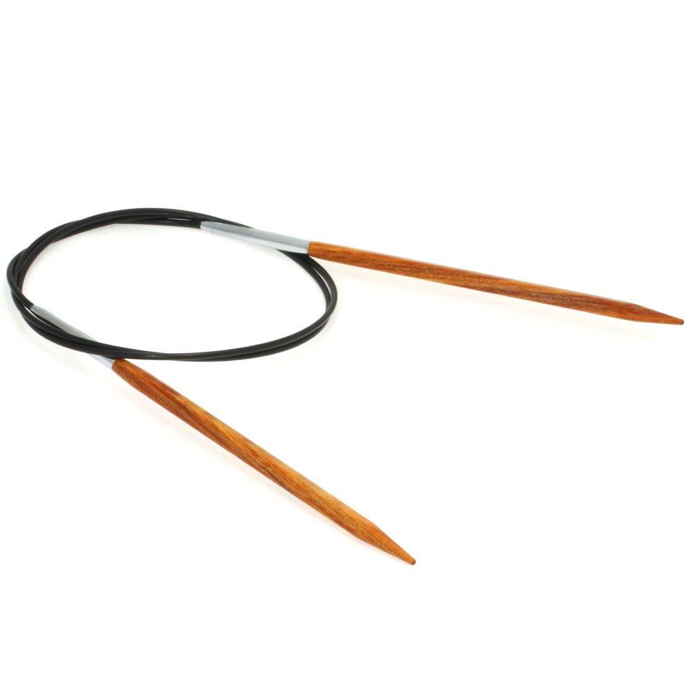 Lana Grossa Circular knitting needle design-wood quattro S. 5,0/80cm